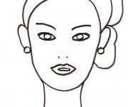 Coloriage et dessins gratuit Visage Femme à imprimer