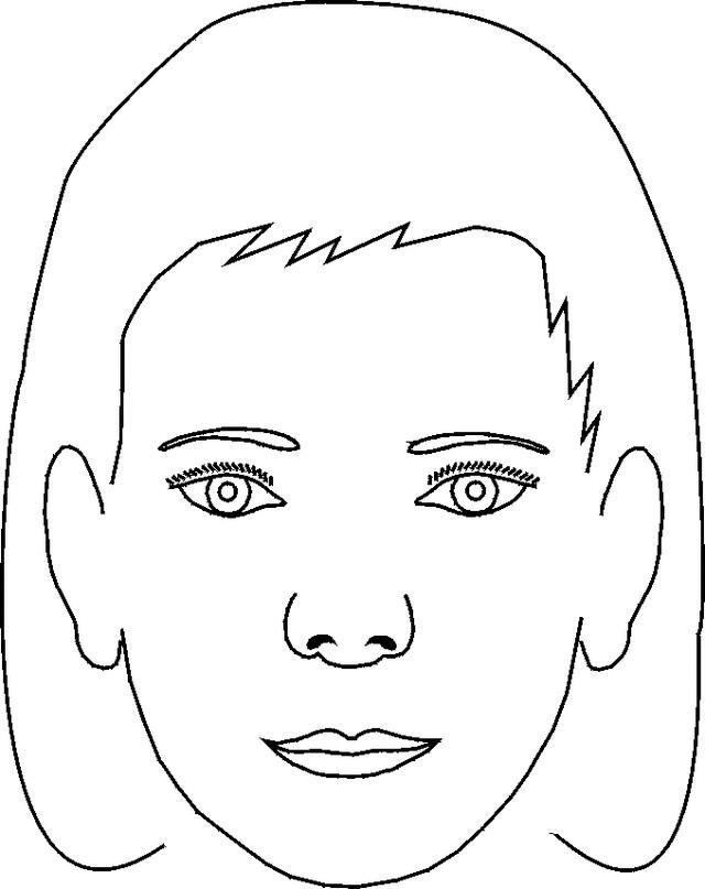 Coloriage Visage Femme à Maquiller Dessin Gratuit à Imprimer