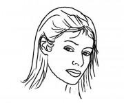 Coloriage et dessins gratuit Visage Femme couleur à imprimer