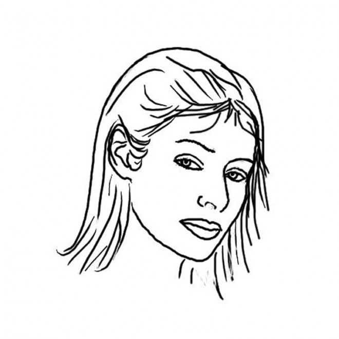 Coloriage En Ligne Visage.Coloriage Visage Femme Couleur Dessin Gratuit A Imprimer