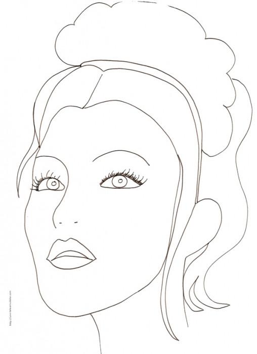 Coloriage et dessins gratuits Visage Femme pour adulte à imprimer