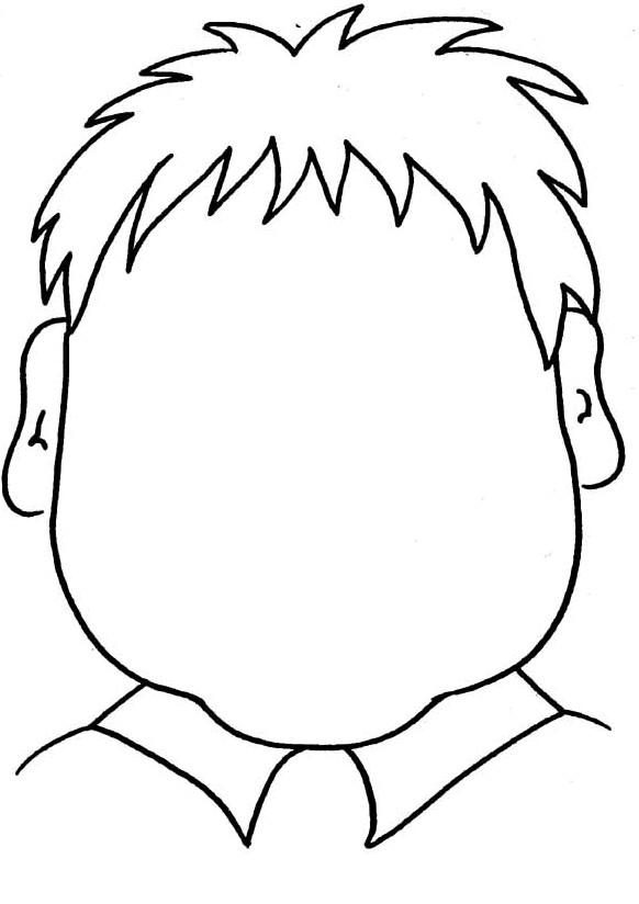 Coloriage et dessins gratuits Visage Garçon sans traits à imprimer