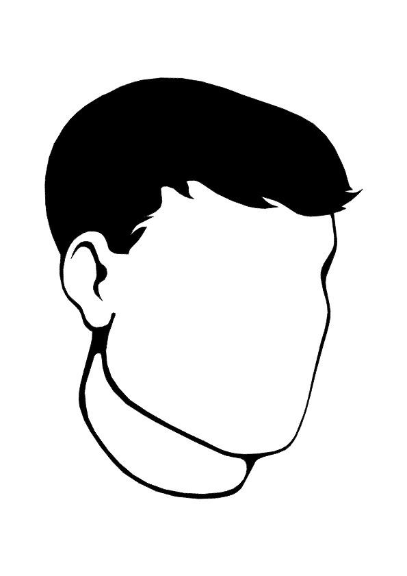 Dessin Visage Noir Et Blanc coloriage visage homme en noir et blanc dessin gratuit à imprimer