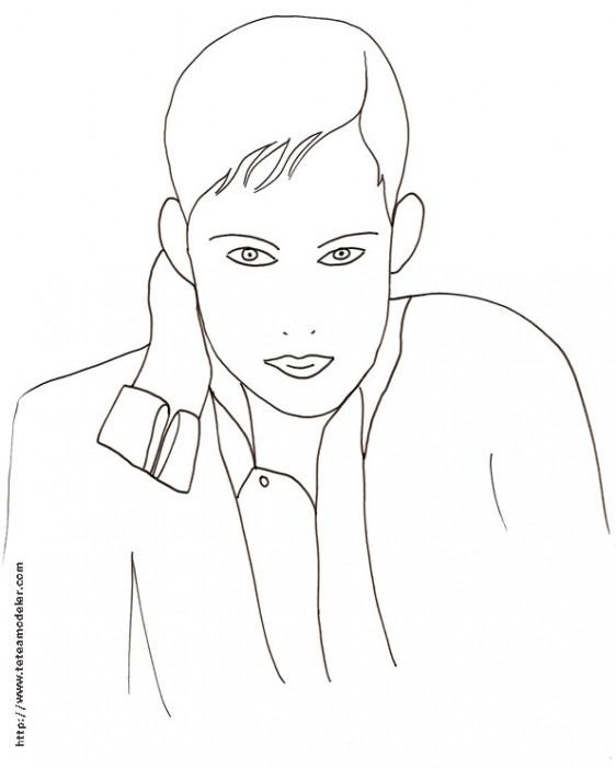 Coloriage et dessins gratuits Visage Homme simplifié à colorier à imprimer