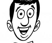 Coloriage Visage Homme souriant