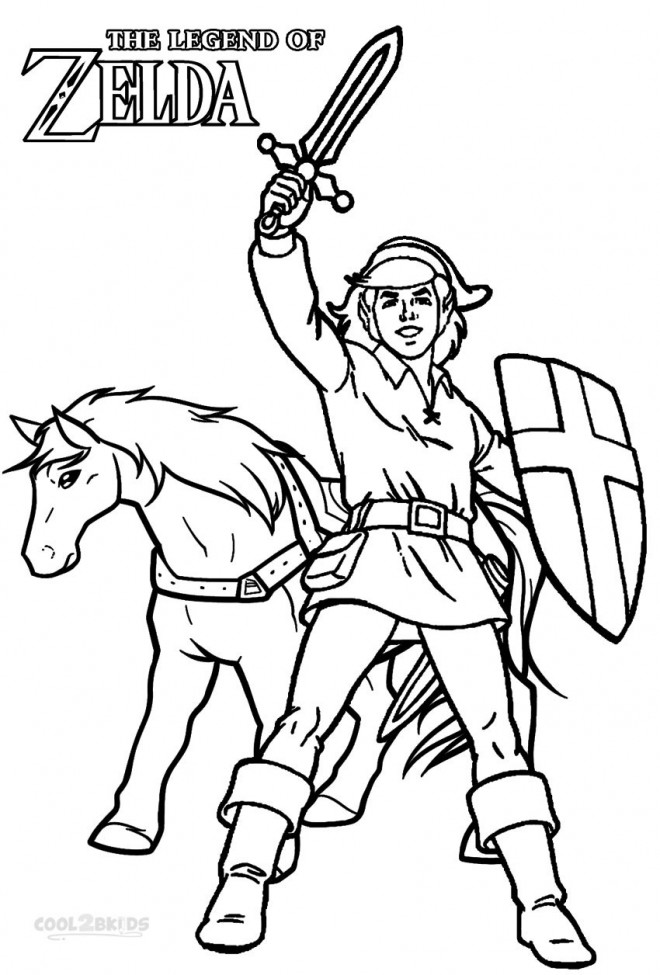 Coloriage et dessins gratuits Affiche The Legend of Zelda à imprimer