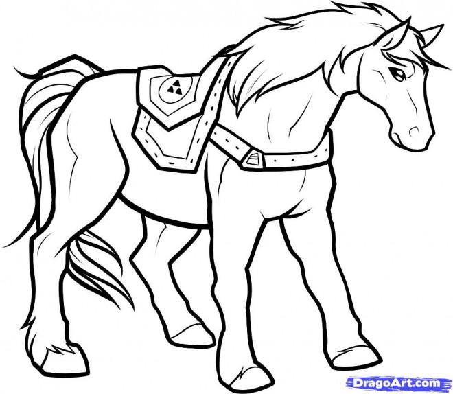 Coloriage et dessins gratuits Cheval de Zelda à imprimer