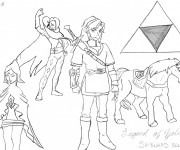 Coloriage et dessins gratuit La Légende de Zelda à imprimer