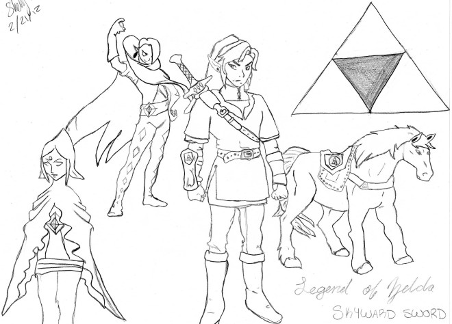 Coloriage La Legende De Zelda Dessin Gratuit A Imprimer
