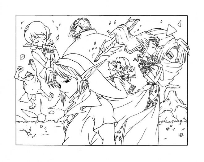 Coloriage et dessins gratuits Les Personnages de  Jeu Vidéo Zelda à imprimer