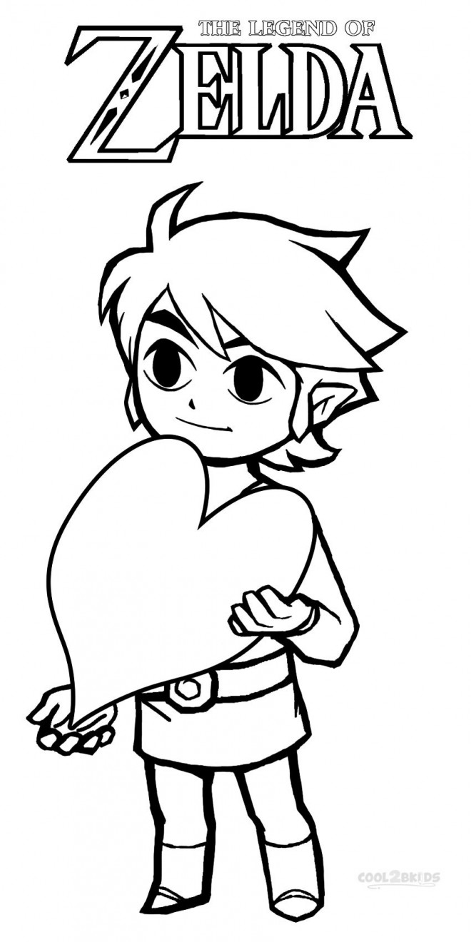 Coloriage et dessins gratuits Link avec Un coeur à imprimer