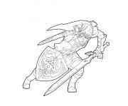 Coloriage et dessins gratuit Link en vecteur à imprimer