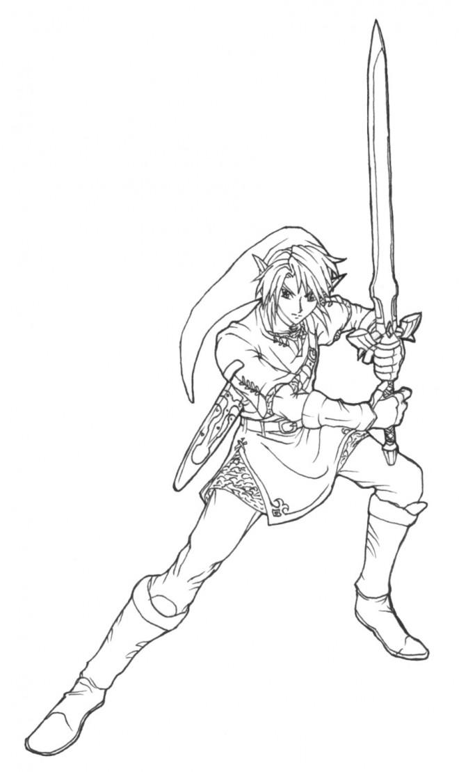 Coloriage et dessins gratuits Link Nintendo pour enfant à imprimer