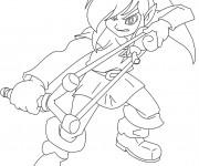 Coloriage et dessins gratuit Link stylisé à imprimer