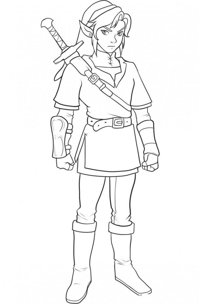 Coloriage Portrait de Link dessin