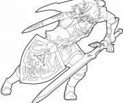 Coloriage et dessins gratuit Prince Link vectoriel à imprimer