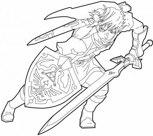 Coloriage et dessins gratuits Prince Link vectoriel à imprimer