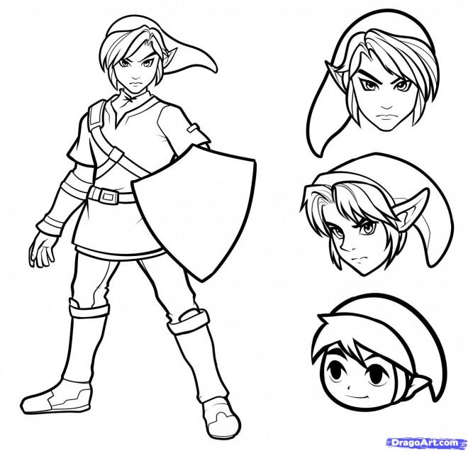 Coloriage et dessins gratuits Sélection Link The Legend of Zelda à imprimer