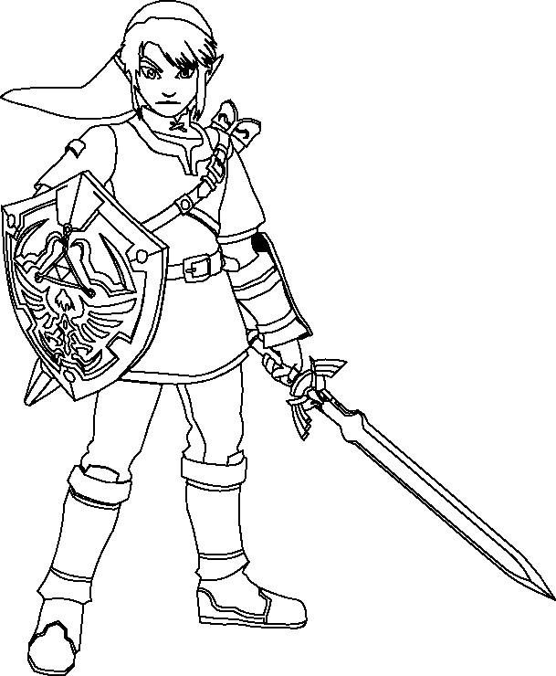 Coloriage The Legend Of Zelda Dessin Gratuit A Imprimer