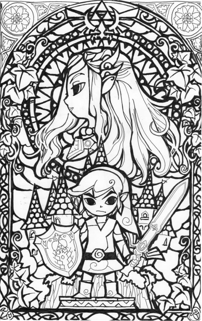 Coloriage Zelda gratuit à imprimer liste 40 à 60