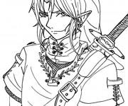 Coloriage dessin  Zelda 7