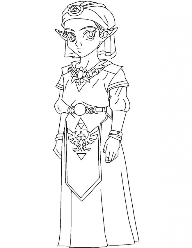 Coloriage Zelda Breath Of The Wild Dessin Gratuit A Imprimer