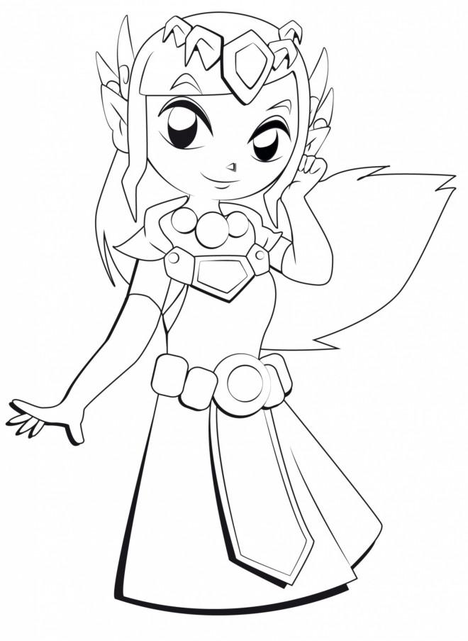 Coloriage et dessins gratuits Zelda Dessin Animé à imprimer