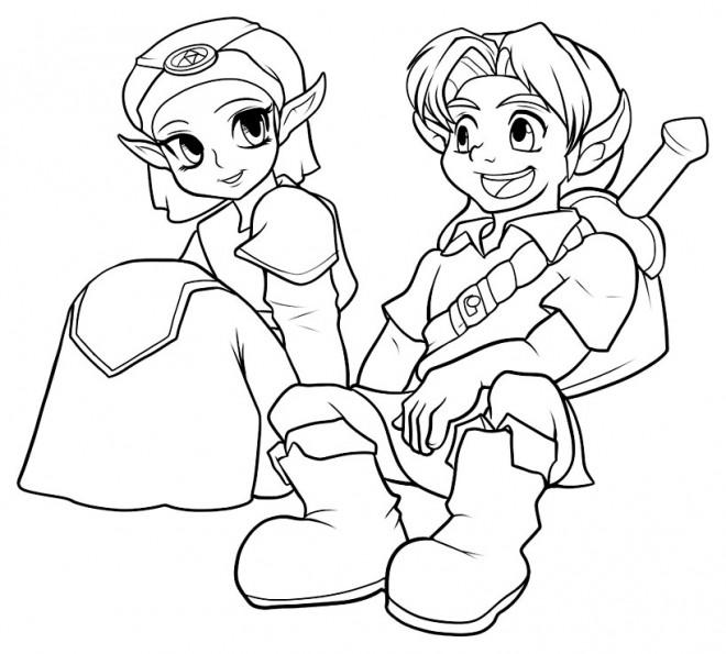 Coloriage et dessins gratuits Zelda et Link à imprimer