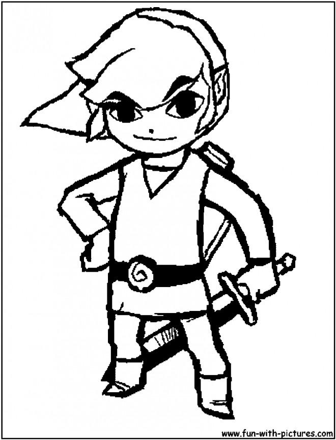 Coloriage et dessins gratuits Zelda Jeu vidéo à imprimer