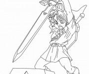 Coloriage et dessins gratuit Zelda Link à imprimer