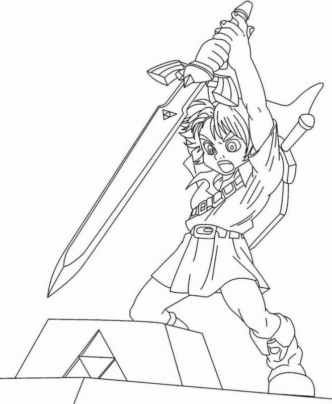 Coloriage et dessins gratuits Zelda Link à imprimer
