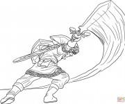 Coloriage et dessins gratuit Zelda Link à télécharger à imprimer