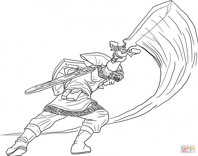 Coloriage et dessins gratuits Zelda Link à télécharger à imprimer