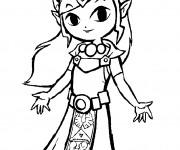Coloriage et dessins gratuit Zelda Majora's mask à imprimer