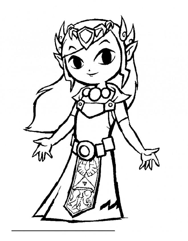 Coloriage et dessins gratuits Zelda Majora's mask à imprimer