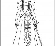 Coloriage et dessins gratuit Zelda maternelle à imprimer