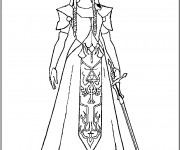 Coloriage Zelda maternelle