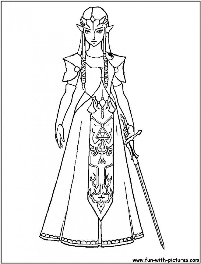 Coloriage et dessins gratuits Zelda maternelle à imprimer