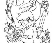 Coloriage Zelda Personnage