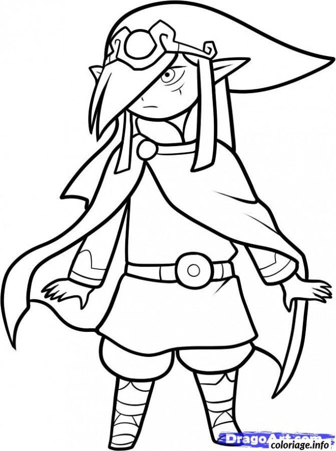 Coloriage et dessins gratuits Zelda Personnage en vecteur à imprimer