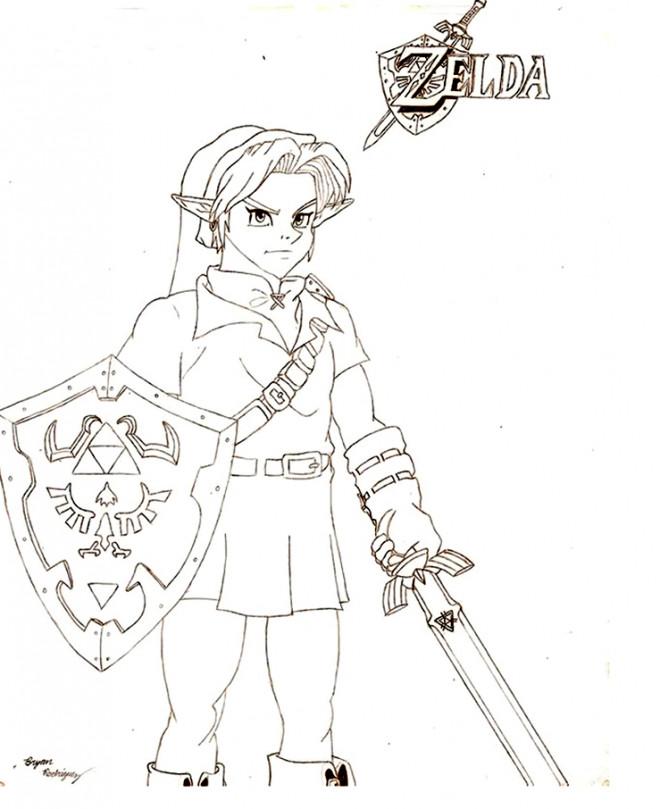 Coloriage et dessins gratuits Zelda pour découpage à imprimer