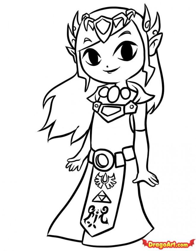 Coloriage et dessins gratuits Zelda pour enfant à imprimer