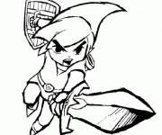 Coloriage et dessins gratuit Zelda Wind Waker à imprimer