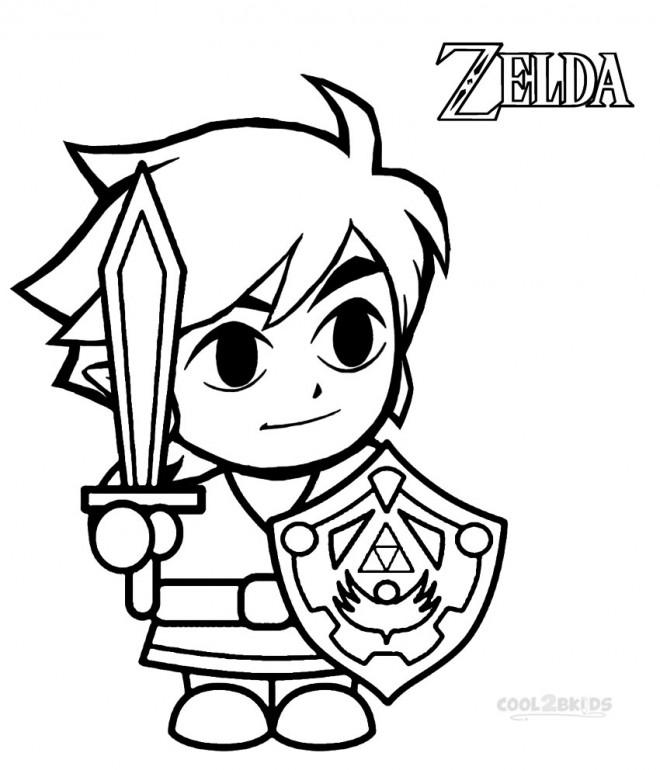 Coloriage Zelda Wind Waker Pour Garçon Dessin Gratuit à Imprimer