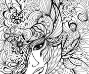 Coloriage et dessins gratuit Adulte Femme vecteur à imprimer