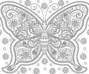 Coloriage et dessins gratuit Adulte Fleurs 27 à imprimer