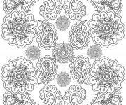 Coloriage et dessins gratuit Anti-Stress mandala Fleurs Art à imprimer