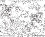 Coloriage Anti-Stress Oiseaux