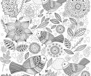 Coloriage et dessins gratuit Anti-Stress Zen maternelle à imprimer