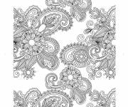 Coloriage et dessins gratuit fleurs adulte anti-stress à imprimer